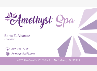 Amethyst Spa Business Cards