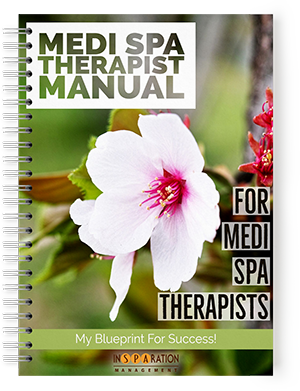 Therapist Manual - medspa growth,  consulting, the state of the medspa industry, who can own a medspa, medspa compensation,  medical spa marketing,  medspa marketing,  how to open a medical spa,  hiring for medspa, medspa profitability,  top revenue generating for medical spas, how to make money with your medical spa,  medspa business training,  mistakes to avoid when opening a medical spa,  medspa consulting,  medspa management,  Medspa business education,  Medspa success business tools,  Medspa legal guidelines
